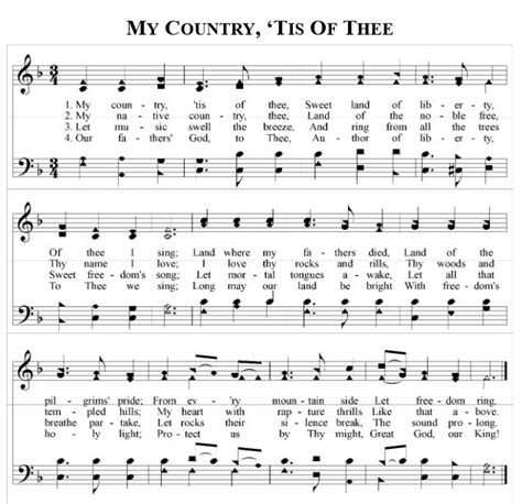 printable lyrics my country tis of thee 69 best music christian images on pinterest church