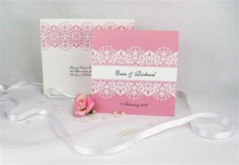 Pink Wedding Invitation Cards by Pink Wedding Invitations Pink Wedding Invitations