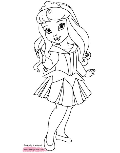 Disney Little Princesses Printable Coloring Pages Disney Black And White Disney Princess Picture Printable