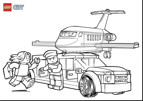 coloring page lego city lego city airplane coloring pages www pixshark com