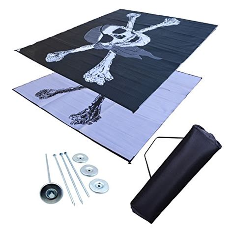 awning mat rvtravelmats rv patio mat awning trailer mat pirate flag 9x12