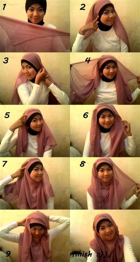 kumpulan tutorial jilbab paris simple 37 best tutorial hijab images on pinterest hijab styles
