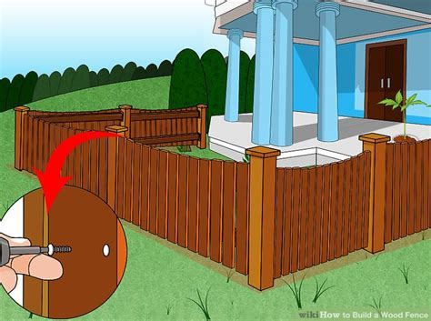 best way to build a house how to build a wood fence with pictures wikihow