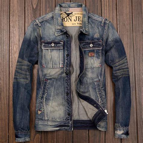 M 8 Styles Fashion Denim Jacket Slim Fit s zipper motorcycle biker denim jacket japanese style