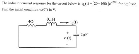 inductor current response the inductor current response for the circuit belo chegg