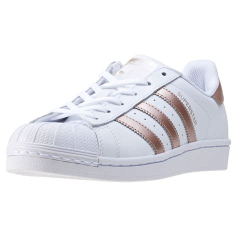 adidas shoes superstar adidas superstar womens trainers white gold new shoes ebay
