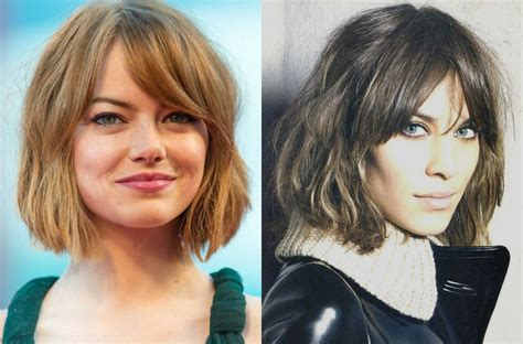 Wavy Hairstyles With Bangs by Best Bob Haircuts With Bangs Hairdrome