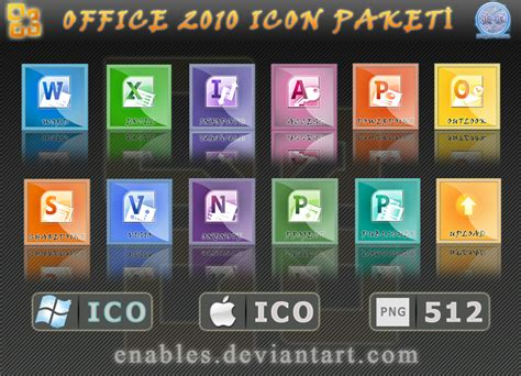 Paket Microsoft Office ms office 2010 icon paket by enables on deviantart