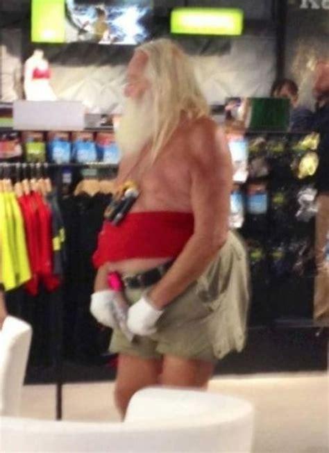 santa claus   summer  wears tube tops  shorts