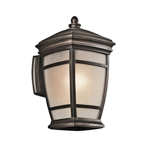 rubbed bronze outdoor lighting shop kichler lighting mcadams 14 in h rubbed bronze