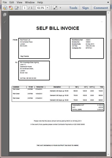 supplier invoice template sle of a suppliers invoices