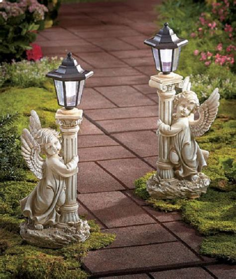 Garden Angel Solar Lantern Statue Patio Light Decor Solar Light Decorations