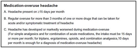Medication Overuse Headache Detox by Text Medication Overuse Headache A Review Jpr