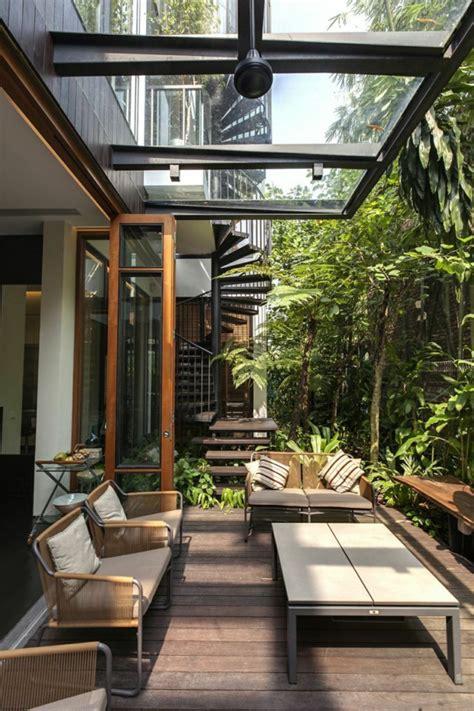 terrasse mit dach glasdach terrassen als hit im modernen lebensstil
