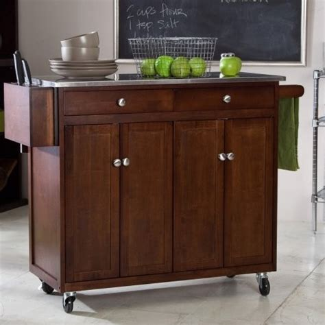 kitchen carts islands finley home the espresso kitchen cart contemporary