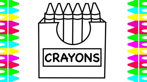 coloring crayons how to draw a box of crayons how to color crayons