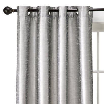 threshold faux silk curtains better but no valance http www target com p target