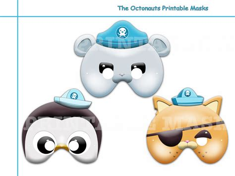 octonauts templates unique 3 the octonauts printable masks holidaypartystar