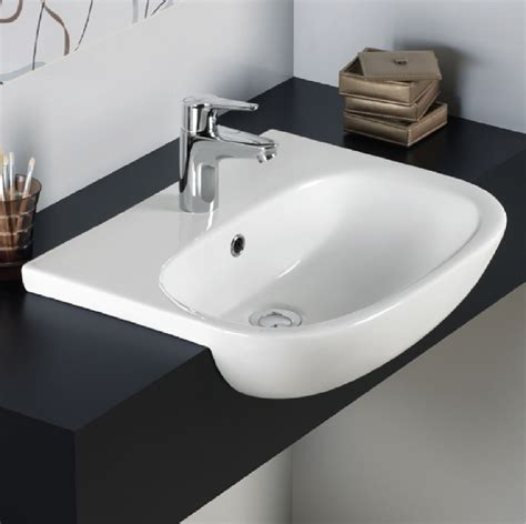 standard semi recessed sink rak tonique 52cm semi recessed basin 1 tap tonsrbas1