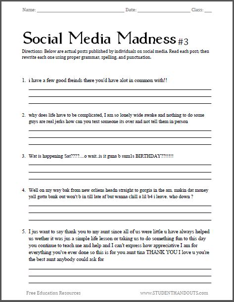 The Of Media Worksheet Answers