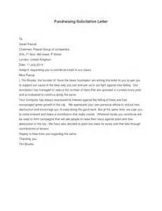 fundraising solicitation letter template sle solicitation letter for and chapel