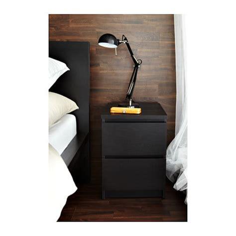 kullen nightstand malm chest of 2 drawers black brown 40x55 cm ikea