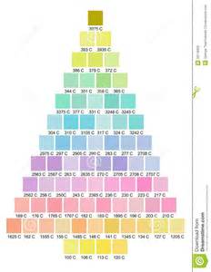 christmas tree color palette stock photography image