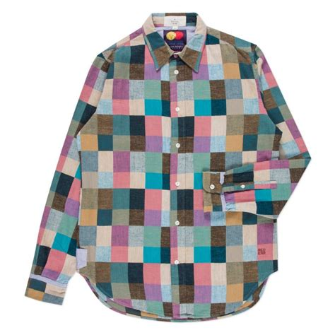 Mens Patchwork - paul smith s multi colour patchwork check cotton shirt
