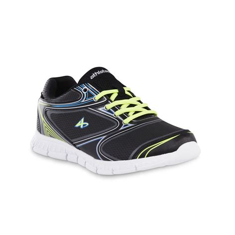 kmart mens athletic shoes athletech s dax athletic shoem black yellow blue