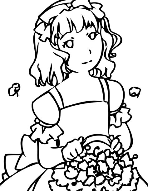 coloring pages flower girl flower girl coloring page handipoints