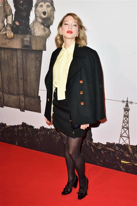 lea seydoux isle of dogs lea seydoux at isle of dogs premiere at cinema gaumont