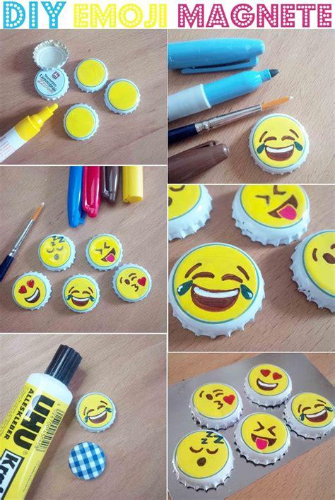 Sticker Selber Gestalten Whatsapp by Magnete Aus Kronkorken Selber Machen Diy Emojis Emoticons
