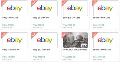 Ebay Gift Card Discount - swagbucks get 10 discount on ebay gift card redemption doctor of credit