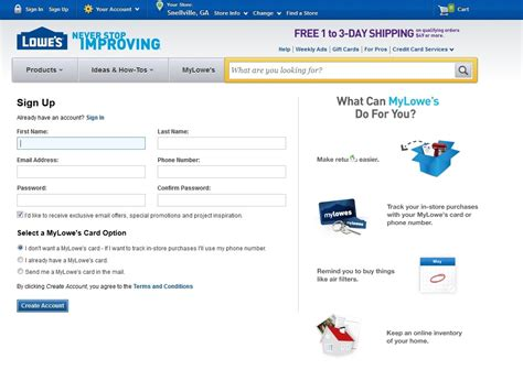 make a lowes credit card payment image gallery lowe s account access
