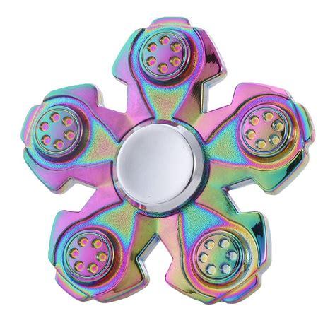 Fidget Edc Spinner fidget spinner rainbow pentagon circle spinner edc toys