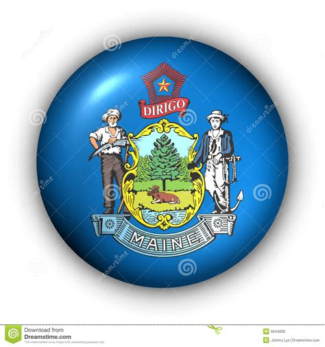 printable w 9 form maine round button usa state flag of maine stock illustration