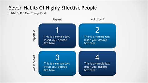 seven habits diagram seven habits covey powerpoint template slidemodel