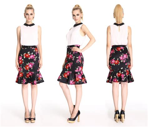 formal skirt and blouse pattern sleeveless blouse