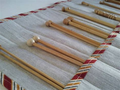 gold knitting needles linen knitting needle with bright gold and striped