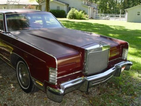sell used 1978 lincoln continental town car all