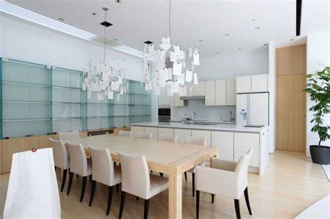 kitchen and dining room of small contemporary house in selecting beautiful furniture for home interior design