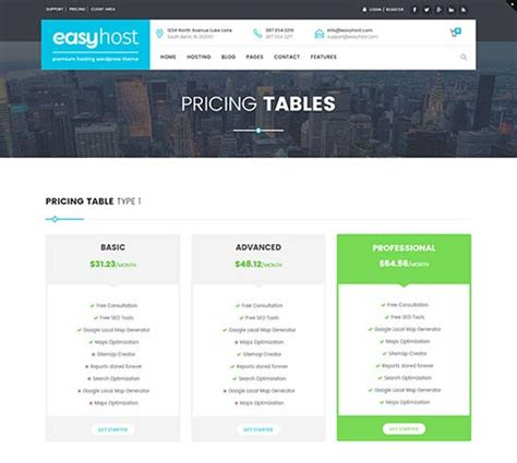 enfold theme pricing table 25 wordpress themes with useful pricing tables