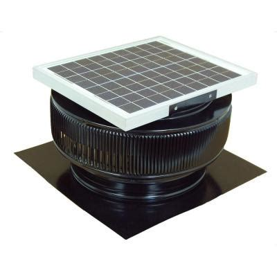 solar roof fan home depot active ventilation 1007 cfm black powder coated 15 watt solar powered 14 in dia roof mounted