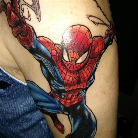 spiderman tattoos nerdist
