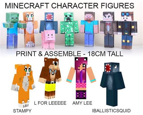 Minecraft Papercraft Figures - 161 best images about sty longnose minecraft on