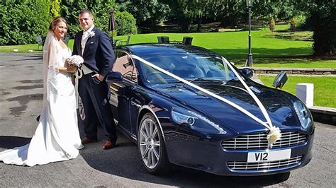 Wedding Car Cardiff by Midnight Blue Aston Martin Wedding Car In Cardiff South Wales