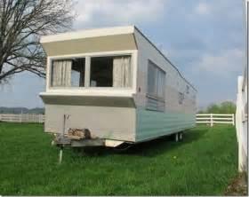 mobile home trailer vintage 1960 time capsule rollohome mobile home trailer