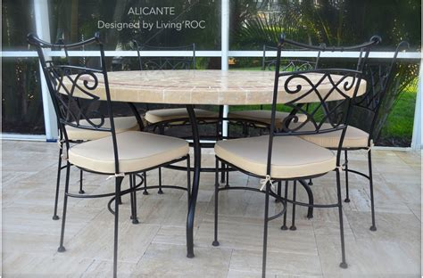 stone top outdoor dining table 48 quot 60 quot outdoor garden patio round mosaic marble dining