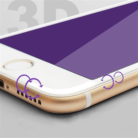 Iphone 6 Plus Anti Gores 3d Screen Carbon Fiber 1 tempered glass for iphone 6 6s 6 plus screen 3d surface anti violet carbon fiber iphone 7