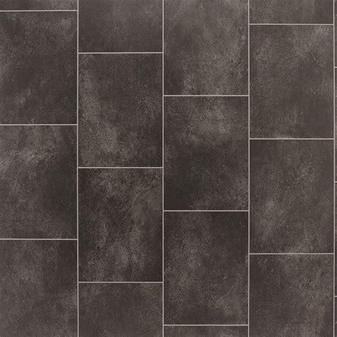 black slate tile effect vinyl flooring   departments
